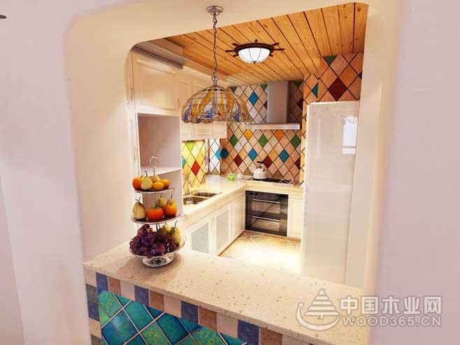 9款地中海风格小厨房装修效果图1