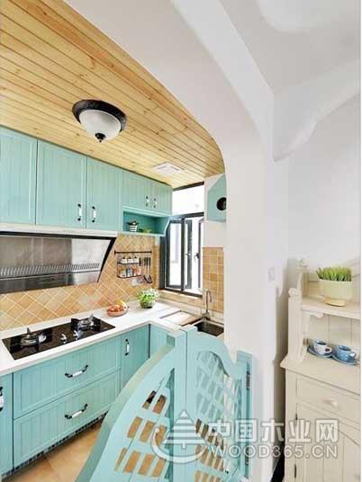 9款地中海风格小厨房装修效果图2