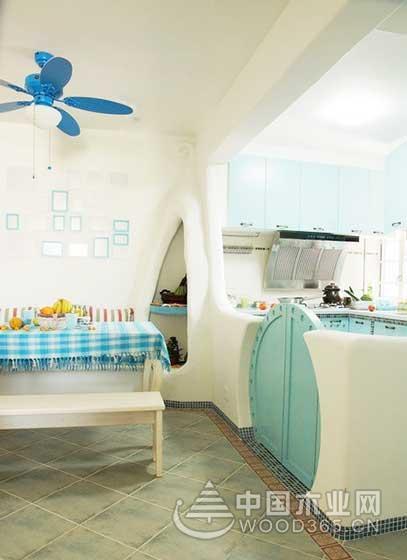 9款地中海风格小厨房装修效果图6