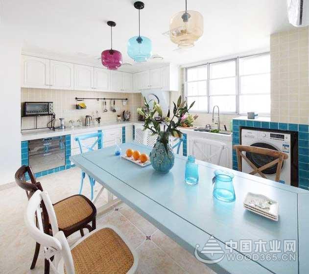 9款地中海风格小厨房装修效果图9