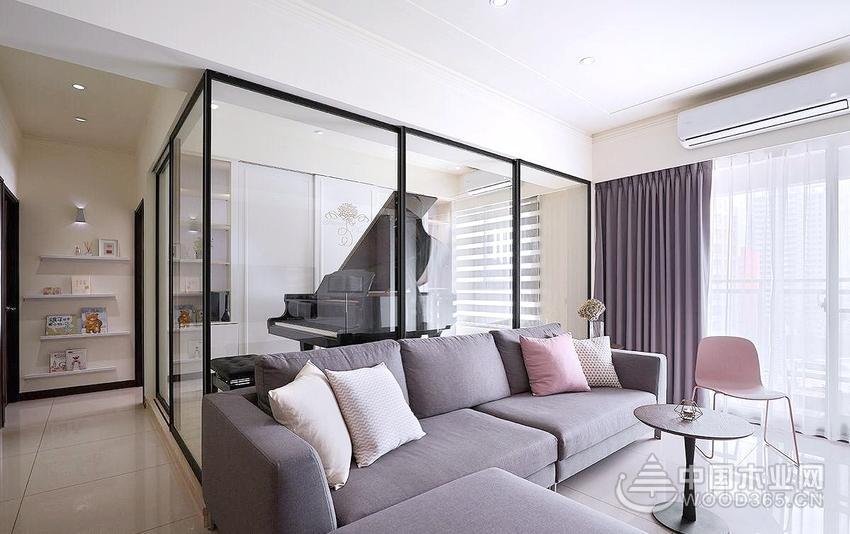 116平米现代风格三室两厅装修效果图