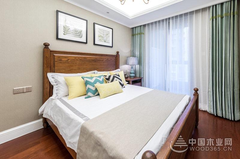 89平米美式风格三室一厅装修效果图