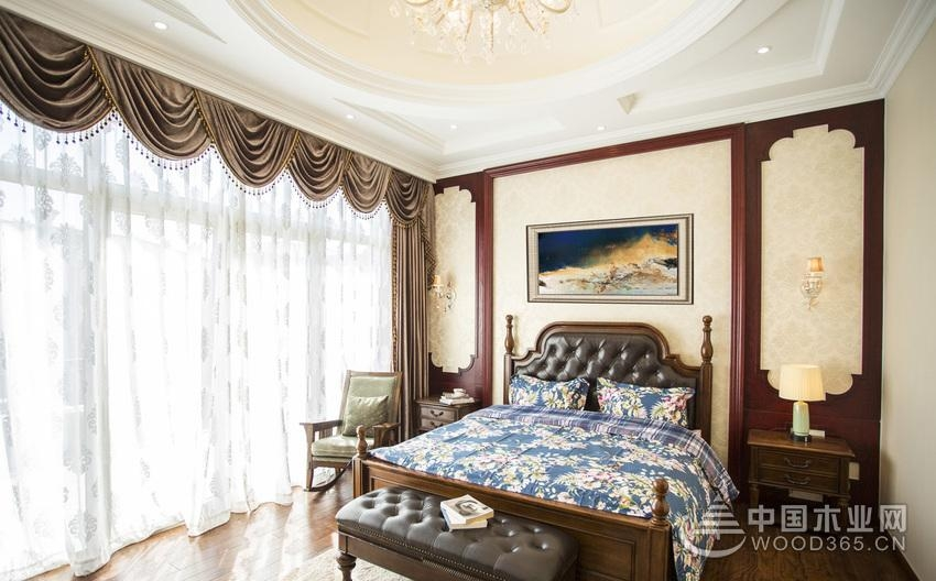 金碧天下欧式别墅,四室二厅装修效果图