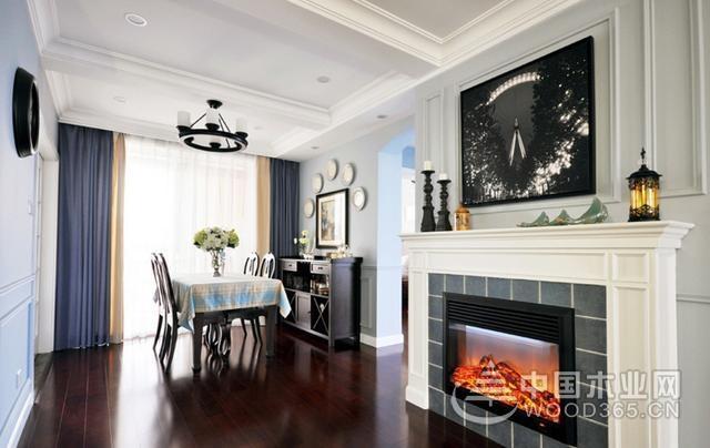 15万打造80平米美式风格两室一厅装修效果图图片