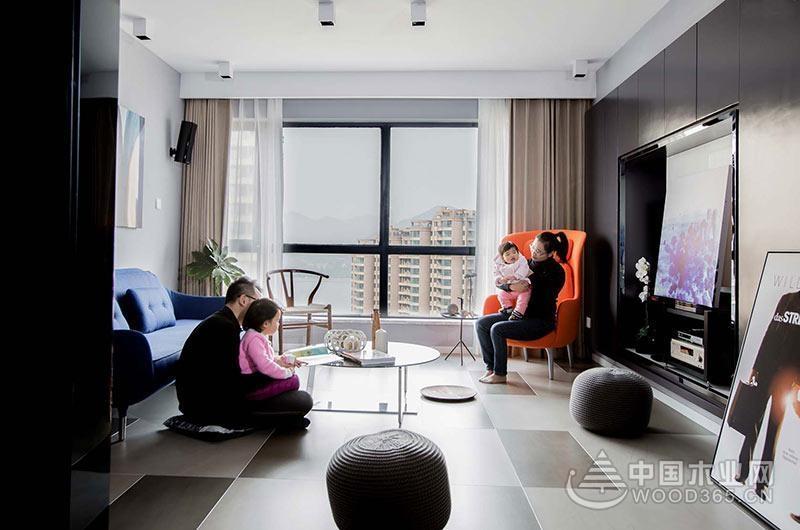 150平米现代简约四室改三室两厅装修效果图