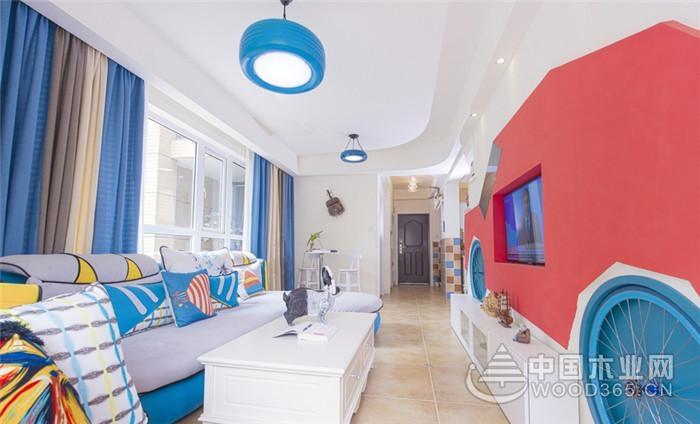 70平米地中海风格三室两厅装修效果图