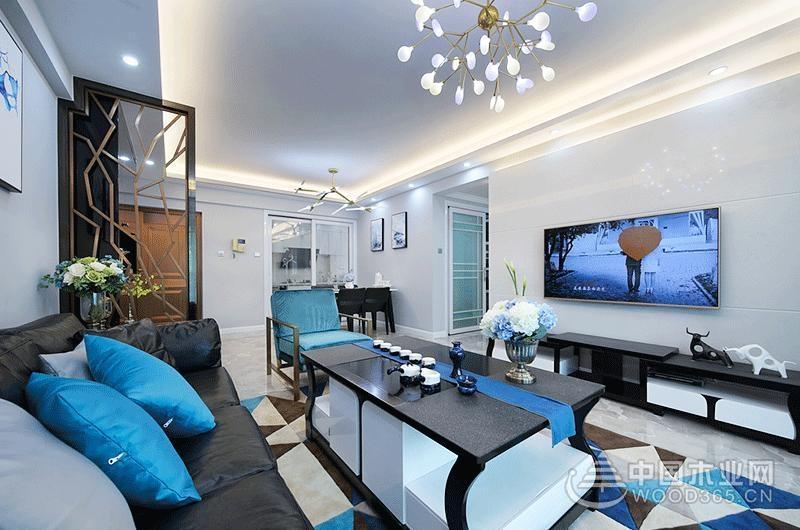 90平米現代簡約風格兩房一廳裝修效果圖片