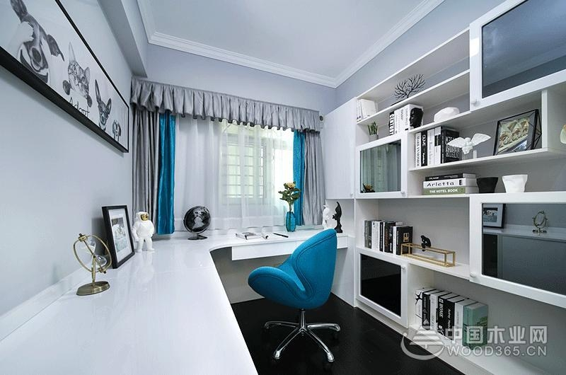 90平米现代简约风格两房一厅装修效果图片