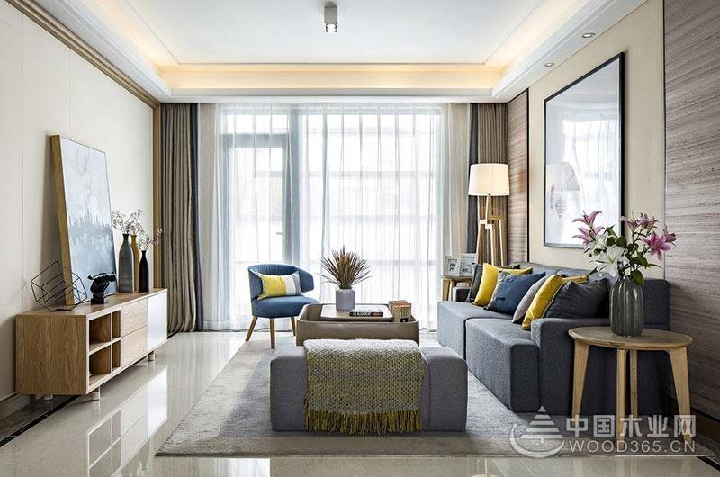 100平米北欧风格三室一厅装修效果图图片
