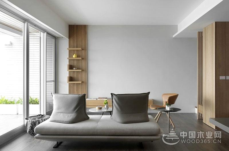 84平米现代简约风格小复式公寓装修效果图图片