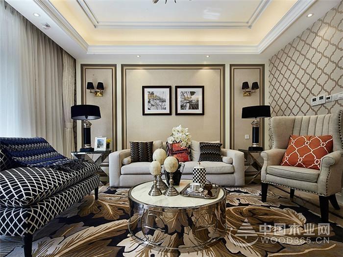 140平米欧式装修风格,四室两厅装修效果图