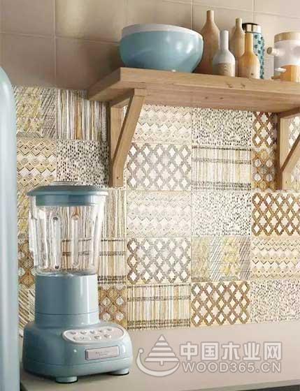 10款厨房小花砖装修效果图