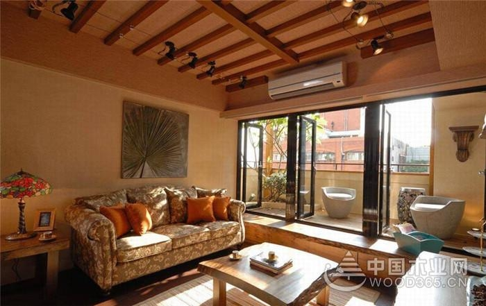 美式乡村风格空间,139平米两房两厅装修效果图
