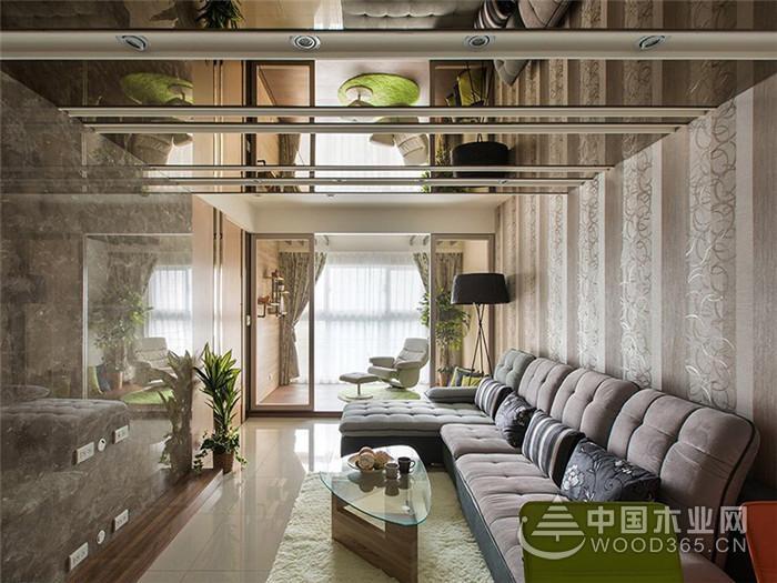 清新质朴简约风格,100平米三室两厅装修效果图