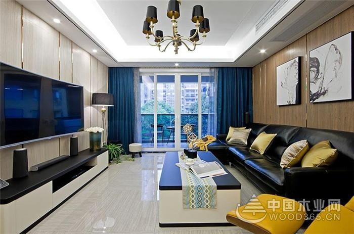 120平米现代前卫风格三室两厅装修效果图