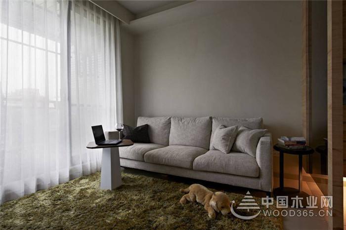 现代简约二居室,46平米两房一厅装修效果图