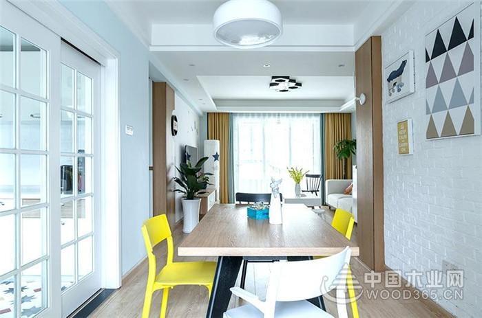 107平米北欧风格三室两厅装修效果图