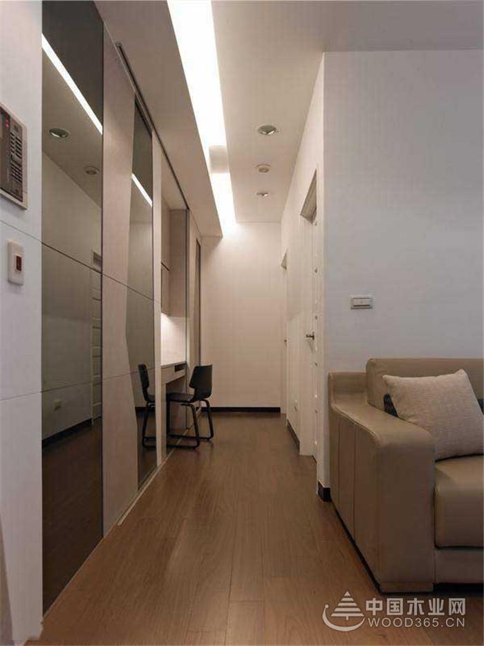 简单主义,56平米现代简约风格装修图片-中国木业网