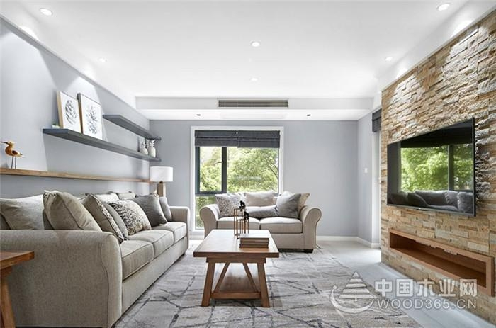 165平北欧美式混搭风格三室两厅装修效果图