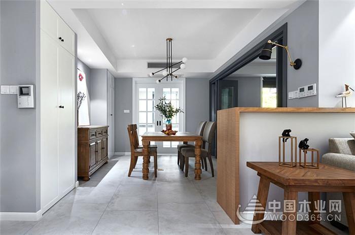165平北欧美式混搭风格三室两厅装修效果图图片