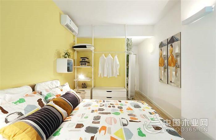 简约小清新风格,90平米两房一厅装修效果图