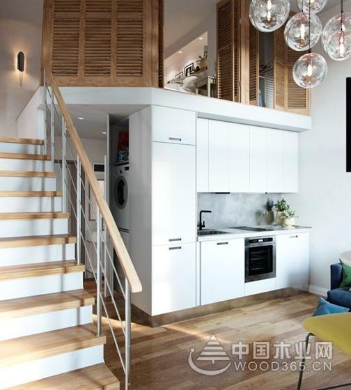 高效时尚感loft空间,40平米小户型装修效果图