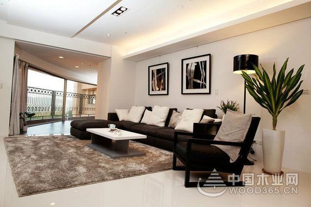 198平大户型现代简约客厅装修效果图设计