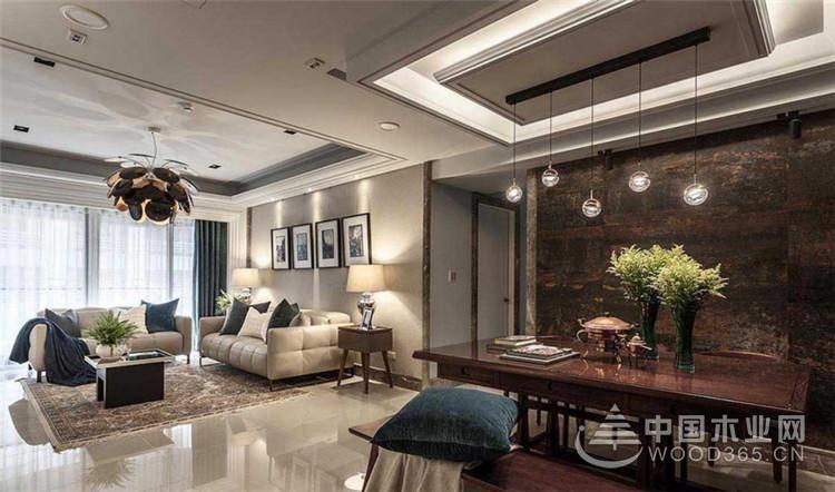 优雅大气高质感搭配,108平米三房两厅装修效果图