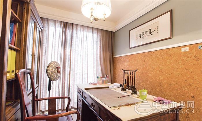 中式美式温暖混搭家装效果图