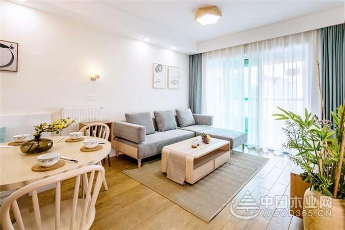 90平米日式风格两房一厅装修效果图片