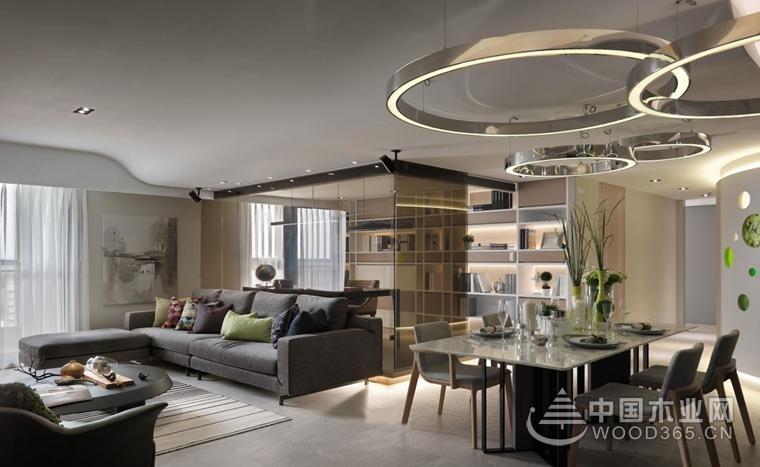 一套現代簡約風格裝修圖片,高品質三居室設計圖片