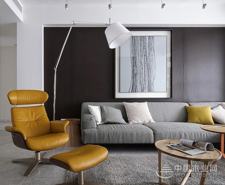 三居室裝修簡潔明了,100平米現代簡約風格裝修圖片