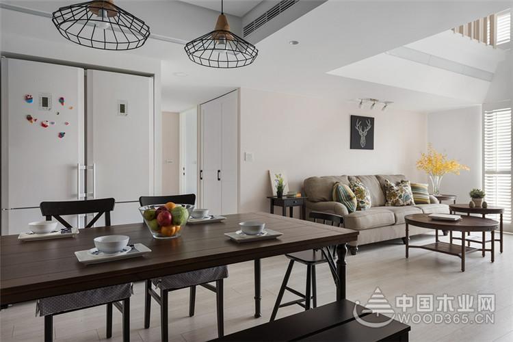 138平米挑高户型美式风格装修五房三厅装修效果图