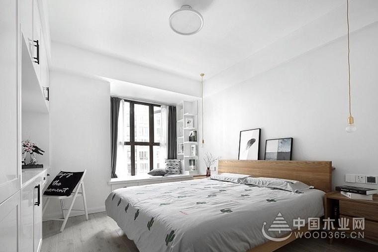 黑白调北欧风格装修,简约北欧风格两房一厅装修效果图