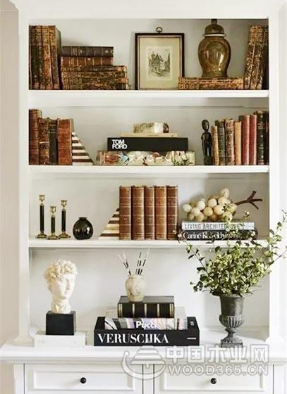 体验书中的感觉,10款书房书架布置装修图