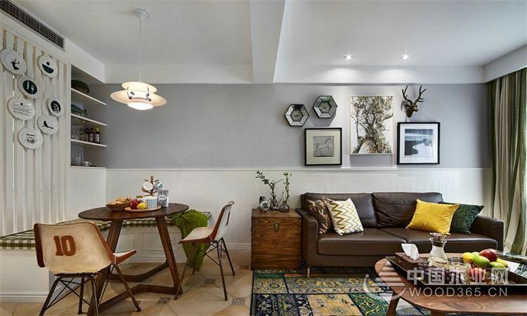 美式与北欧风格碰撞出充满幸福感,两房两厅装修效果图图片