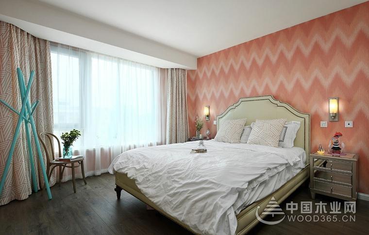 东南亚风格装修,90平米两房一厅装修效果图
