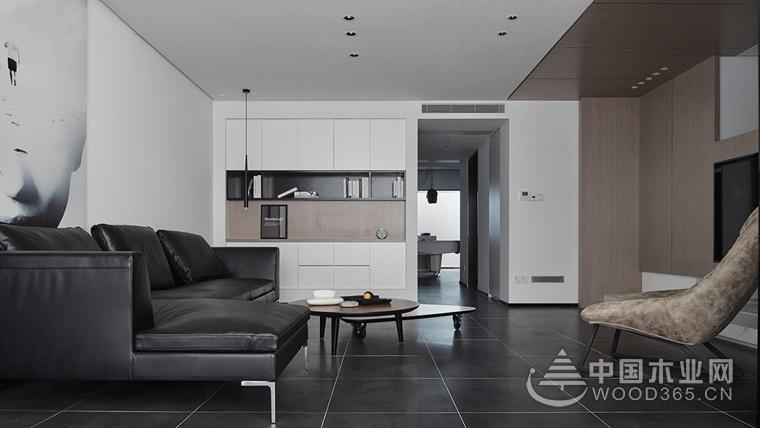 150平米复式公寓装修效果图,极简设计融入艺术元素图片