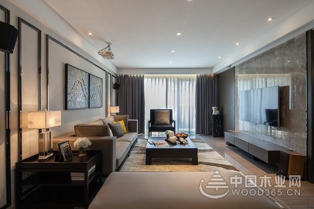 160平米大户型装修,混搭现代简约风格装修图片-中国