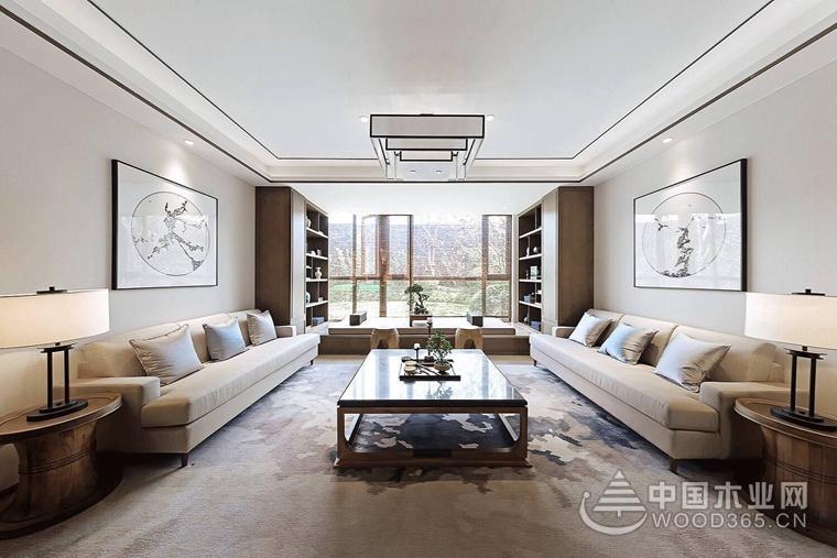 让空间多一些轻盈,150平米新中式三房两厅装修效果图