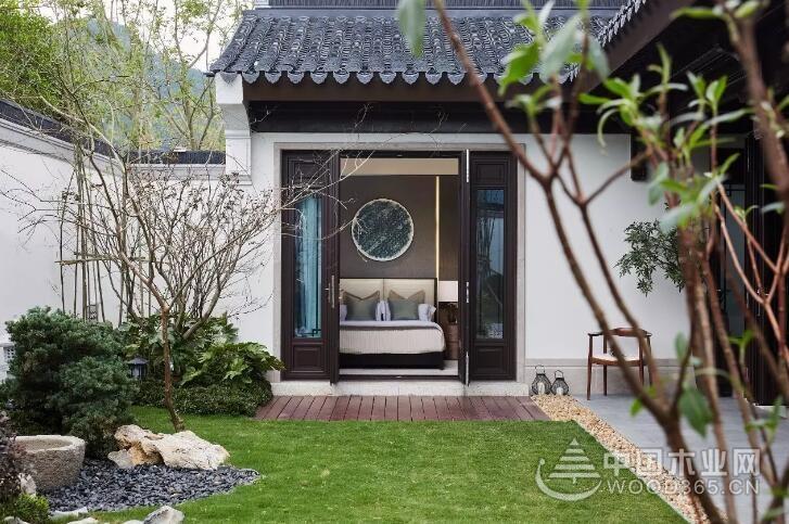 中式庭院设计效果图 ,也是一种境界与智慧-中国木业网