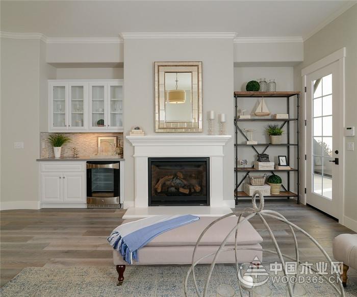 以白色主打美式两居室装修效果图,简而不约,自然清新