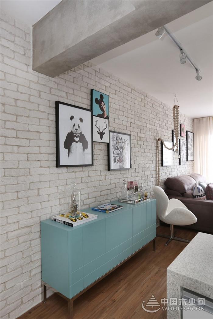 布局紧凑,功能丰富,北欧风格一居室小户型装修图