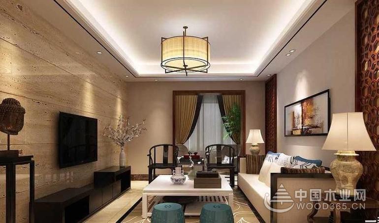 复式楼客厅吊灯装修效果图,让客厅更舒适