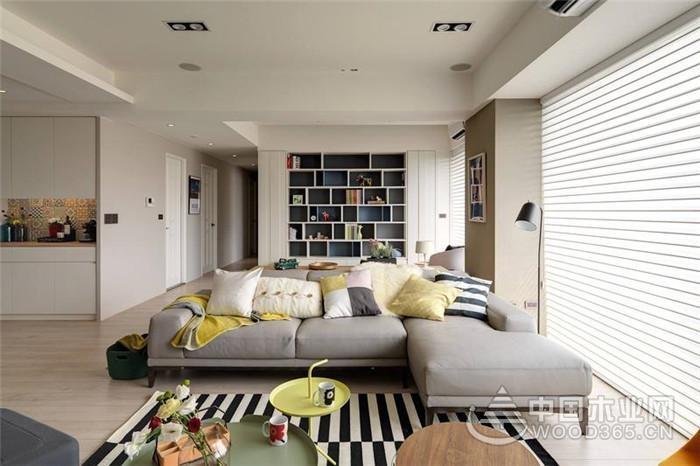 自由奔放,120平米北欧风格三室两厅装修效果图