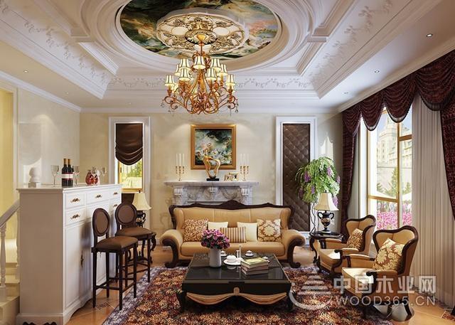 14款欧式家装客厅效果图,舒适温暖