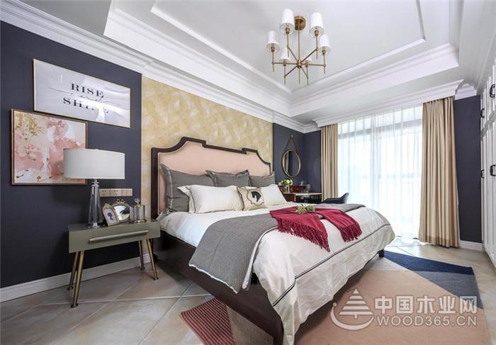 打破传统美式,120平米三室两厅装修效果图