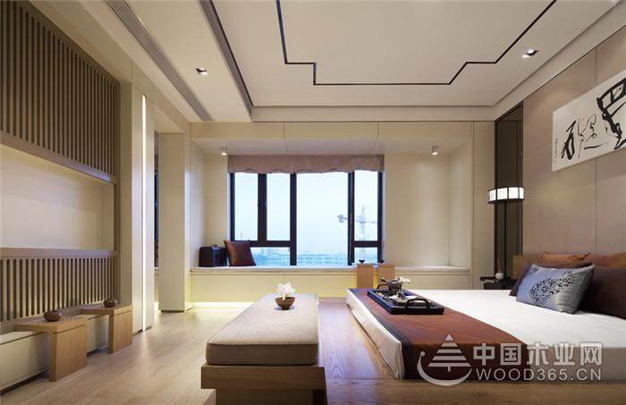 气派的新中式,135平米三室两厅装修效果图图片