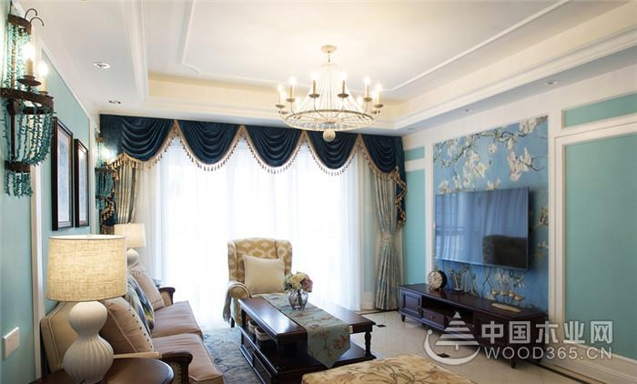 美式风格装修,120平米四室二厅装修效果图