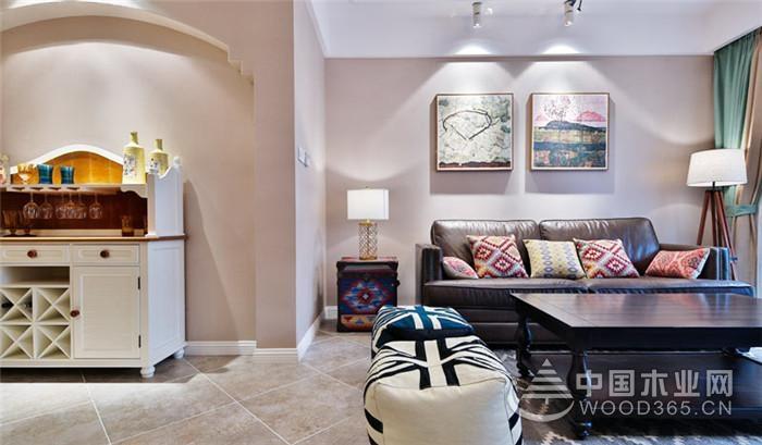 色彩斑斓又柔美,130平米美式乡村风格两房两厅装修效果图